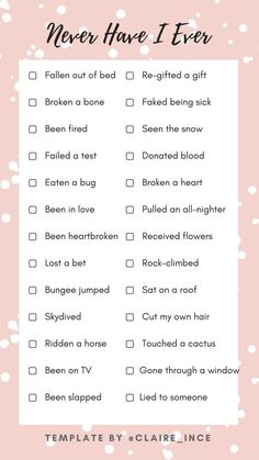 sleepover questions never have i ever template Sleepover Party Games, Things To Do At A Sleepover, Fun Sleepover Ideas, Sleepover Activities, Fun Questions To Ask, This Or That Questions, Have You Ever Questions, This Or That Game, Poll Questions