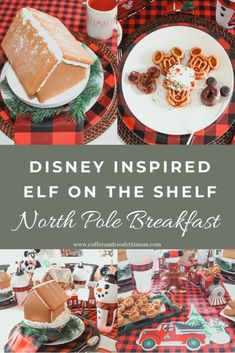 Welcome back your Elf on the Shelf with a Disney Mickey Inspired Breakfast. Complete with Mickey Waffle Bar and gingerbread houses. Easy Christmas Treats, Christmas Brunch, Christmas Breakfast, Magical Christmas, Disney Christmas, All Things Christmas, Christmas Goodies, Christmas Time, Mickey Waffle Maker