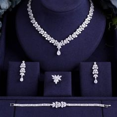 Bridal Zirconia Jewelry Sets For Women Party, Luxury CZ Crystal Wedding Jew. - Bridal Zirconia Jewelry Sets For Women Party, Luxury CZ Crystal Wedding Jewelry Sets – – - Fashion Necklace, Fashion Jewelry, Women Jewelry, Fancy Jewellery, Fine Jewelry, Diamond Jewelry, Beaded Jewelry, Crystal Jewelry, Bohemian Jewelry