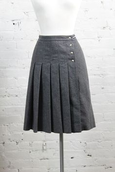 Prada Grey Wool Pleated Wrap Skirt 38 in Clothing, Shoes & Accessories, Women's Clothing, Skirts | eBay