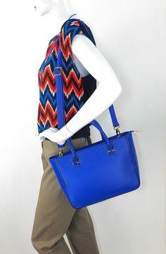 XIUYU NWT Orig $114 Cobalt Blue Leather Satchel w/Optional Shoulder Strap #XiuyuFashionLeatherCollection #Satchel