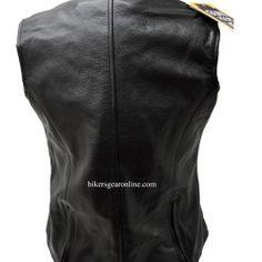 Women's Leather Motorcycle Jackets Vest