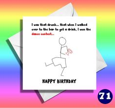 Funny stick men funny birthday card,really funny getting drunk cards,funny greeting cards,funny friend,mate,hilarious, comical cards,drunk by LOLcardshop on Etsy