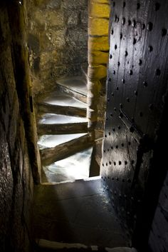 Winding Stairway - Medieval - Castle Rushen, Castletown, Isle of Man