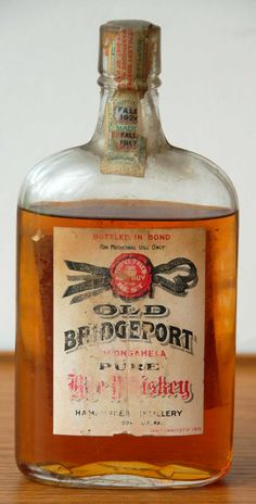 Old Whisky Bottles Old bridgeport rye whisky