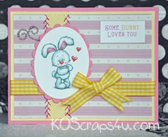 Check out this adorable and sweet love card. This wonderful card features this adorable image, sewing, ribbon, and wonderful sentiment. The great papers complete it.