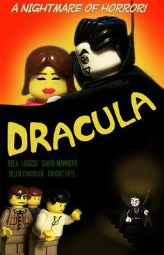 LEGO Dracula Poster | by Zombie Outbrick Lego Film, Lego Movie, Legos, Lego Decals, Helen Chandler, Vampire Dracula, Cool Lego, Legoland, Lego Brick