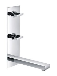 Pura Bloque BQ3HVWMBAS 3 Hole Wall Mounted Vertical Basin Mixer: Stunningly stylish and superbly built from the very highest quality materials, the bloque range is designed to deliver. We have sourced and worked with the very best designers and manufacturers to produce a stunning collection of taps that are fully compatible with UK plumbing systems. You can also choose matching showers to make all your bathroom dreams come true.
