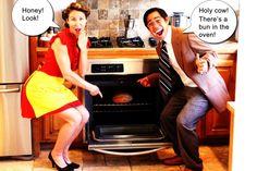 "pregnancy announcements: ""bun in the oven"""