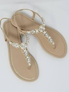 427d6602798e2 Ivory Wedding Sandals with Pearls and Crystals Ivory Bridal Sandals  Destination Wedding Sandals Beach Wedding Sandals Beach Wedding Shoes