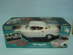 Ertl Collectibles 2003 American Graffiti 1958 Impala White 1/18 Scale Die Cast Metal Replica Car
