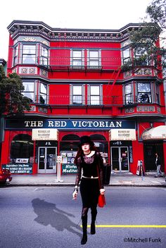 The Red Victorian In The Haight, San Francisco By Mitchell Funk   www.mitchellfunk.com