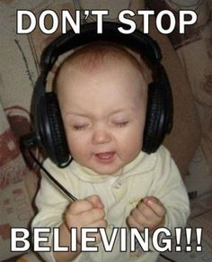 Don't Stop Believing! Haha so cute Funny Babies, Funny Kids, The Funny, Cute Kids, Adorable Babies, Funny Baby Pictures, Funny Pictures With Captions, School Pictures, Funny Pictures For Kids