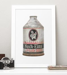 Vintage Noch-Eins Pale Beer Photo Art by The Beer Book on Scoutmob Shoppe