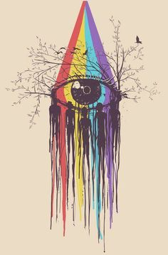 Artwork by Norman Duenas | #rainbow eye - LOVE this!
