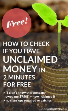 Did you know that your state could owe you money? Follow these easy & free steps to check if you have unclaimed money/property in 2 minutes. My sister had $750 unclaimed from her old health insurance plan!