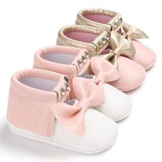 6871c9e9 Shoes Newborn Baby Girls Pre Walker Soft Sole Pram Shoes Faux Leather Trainers  M & Garden