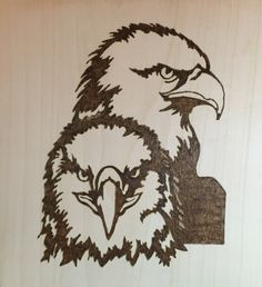 Pyrography Eagles