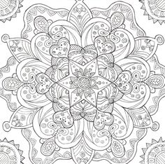 Psychedelic Coloring Pages | Psychedelic Mushroom Coloring Pages Ice lineart by liquid-mushroom