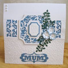 Tonic Cards, Tattered Lace Cards, Studio Cards, Spellbinders Cards, Birthday Cards For Women, Embossed Cards, Die Cut Cards, Create And Craft, Mothers Day Cards