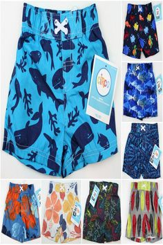 eba9a3d522 7.30 | NEW Baby Boy's Swim Trunks Suit Board NWT Size 9M 12M Month Blue