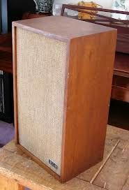 KLH Model 10 speaker. This is what I am listening to in my office, powered by a 1959 Magnavox tube amp.