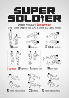 Super Soldier Workout - one for Alfie x Fitness Workouts, Fitness Gym, At Home Workouts, Fitness Shirts, Mens Bodyweight Workout, Studio Workouts, Kickboxing Workout, Fitness Tips, Fitness Models