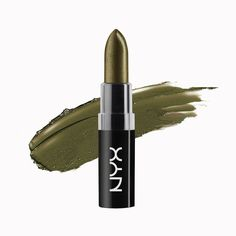 NYX Wicked Lippie Lipstick WIL03 Trickery ( Olive green with gold undertone )  #NYXCosmetics