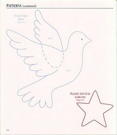 dove of felt