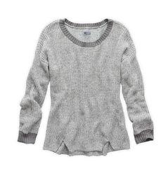 Dark Heather Grey Aerie Marled Crewneck Sweater
