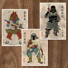 SALE - Set of 3 Star Wars Movie Inspired 16x12 Posters - Set 2 via Etsy