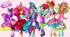 Ever After High Way To Wonderland Ever After High, Bratz Doll, Dolls, Lizzie Hearts, Monster High School, Novi Stars, Raven Queen, Inspirational Artwork, My Little Pony