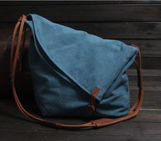 Hey, I found this really awesome Etsy listing at https://www.etsy.com/listing/160146881/blue-canvas-messenger-bag-canvas