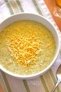 Satisfying, hearty Broccoli Cheese Soup is loaded with veggies and makes a perfect dinner for the cool winter weather.