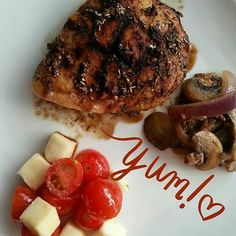 Clean Eating Dinner Ideas 21 Day Fix Approved Foods Balsamic Chicken Mushrooms Onions Beachbody Coach Kena Smith Recipes https://www.facebook.com/Mrs.Smith.73104 http://www.beachbodycoach.com/kenasmith3