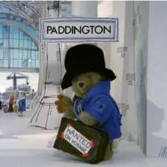 Paddington at the Station. I love Paddington! 80s Kids, Kids Tv, Oso Paddington, Teddy Hermann, Jolie Phrase, Love Bear, Retro Toys, 90s Toys, My Childhood Memories