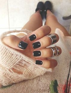 Black mani.