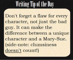 Writing Tip of the Day