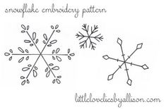 The Latest Trend in Embroidery – Embroidery on Paper - Embroidery Patterns Snowflake Embroidery, Christmas Embroidery Patterns, Crewel Embroidery Kits, Paper Embroidery, Learn Embroidery, Embroidery Patterns Free, Snowflake Pattern, Vintage Embroidery, Machine Embroidery