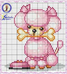 Poodle is so cute it can be done in either cross stitch or cut according to graph and make it in plastic canvas.If you have a Poodle stitch it in your dogs colors.If done in plastic canvas you can hang it from your rear view mirror of your vehicle and have your pet with you when you leave home.