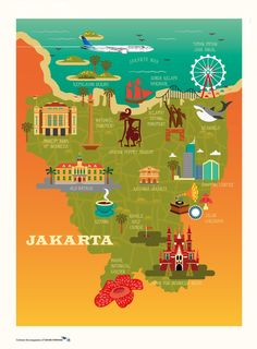 Garuda Indonesia_Jakarta Jakarta City, Vintage Travel Posters, Surabaya, Geometric Art, Southeast Asia, Airplanes, Laos, Backpacking, Postcards