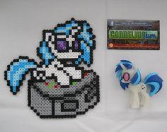 My Little Pony: FiM Vinyl Scratch perler beads by CorneliusPixelCrafts