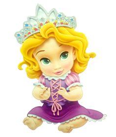 Disney Princess Baby - Rapunzel, one, likes playing and purple plus pink. Disney Pixar, Heros Disney, Baby Disney Characters, Disney Princesses And Princes, Disney Tangled, Disney And Dreamworks, Disney Cartoons, Disney Love, Princesa Rapunzel Disney
