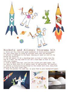 Rocket Ship Diorama — Sarah Jane Studios
