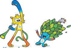 Rio 2016 Olympic and Paralympic Mascot Vinicius and Tom