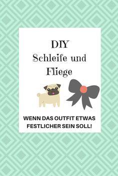 Ihr braucht noch ein schickes Outfit für euren Hund? Näht ihm doch eine Schleife oder eine Fliege.