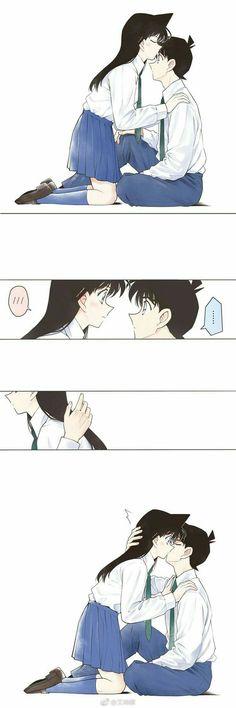 Detective Conan: Magician Of The Silver Sky Movie 8 Detective Conan Shinichi, Manga Detective Conan, Ran And Shinichi, Kudo Shinichi, Fanarts Anime, Manga Anime, Anime Art, Magic Kaito, Kaito Kid