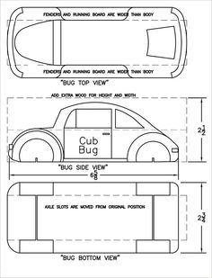 free pinewood derby template - Free Pinewood Derby Car Templates