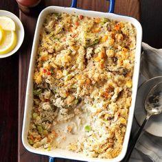 Seafood Casserole Shrimp Casserole, Seafood Casserole Recipes, Casserole Dishes, Seafood Recipes, Dinner Recipes, Cooking Recipes, Seafood Appetizers, Seafood Bake, Seafood Pasta
