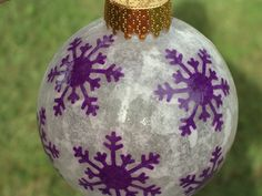 Purple Snowflake Christmas Ornament